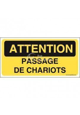 Panneau passage de chariots