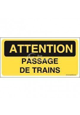 Panneau passage de trains