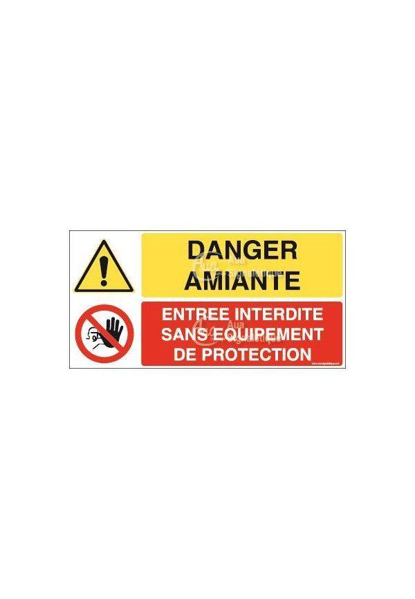 Panneau duo Amiante