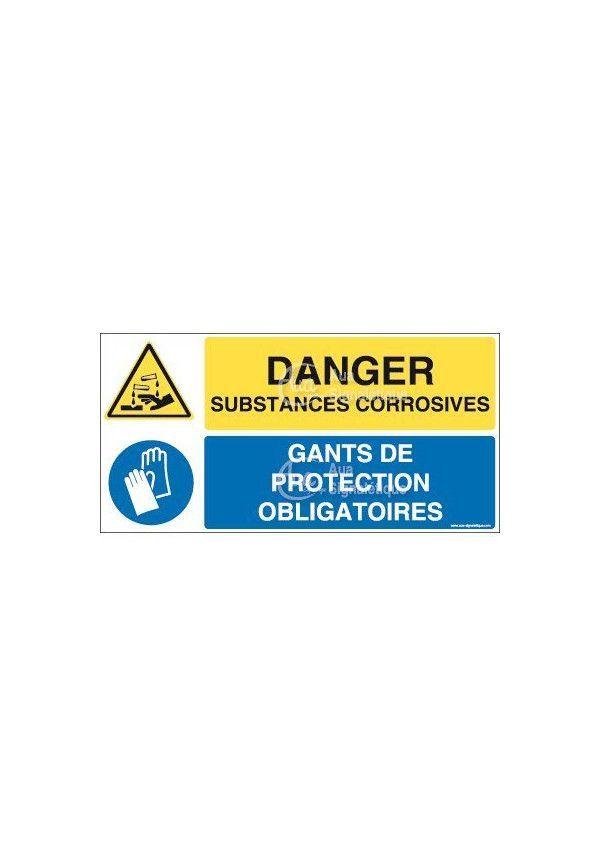 Panneau duo Substances corrosives