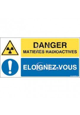 Panneau duo Matières radioactives