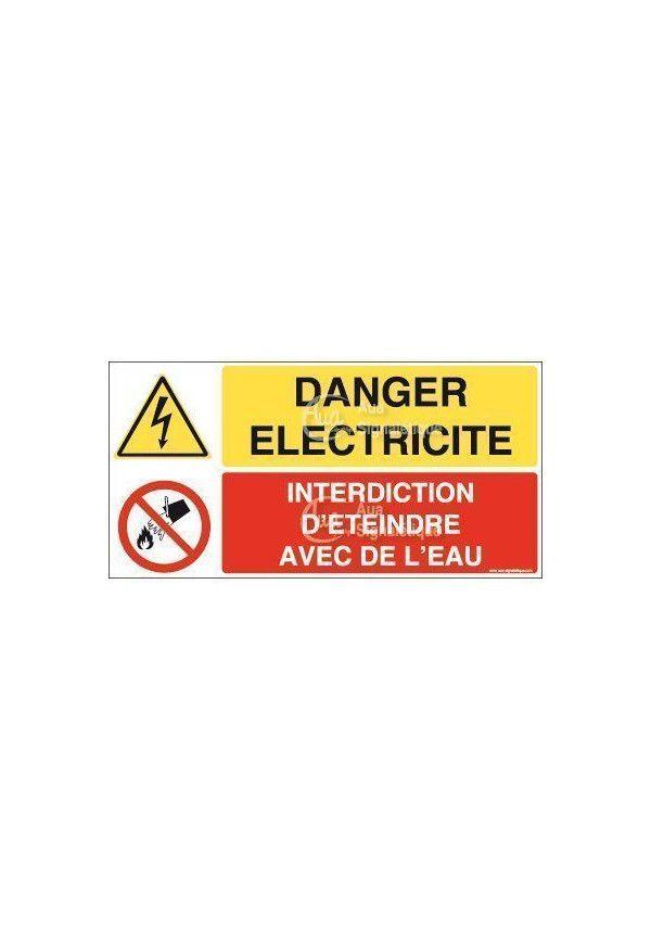 Panneau duo Danger électricité