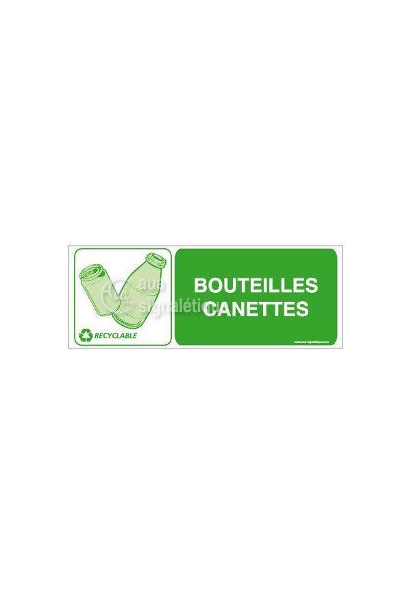 Panneau Bouteilles canettes - H