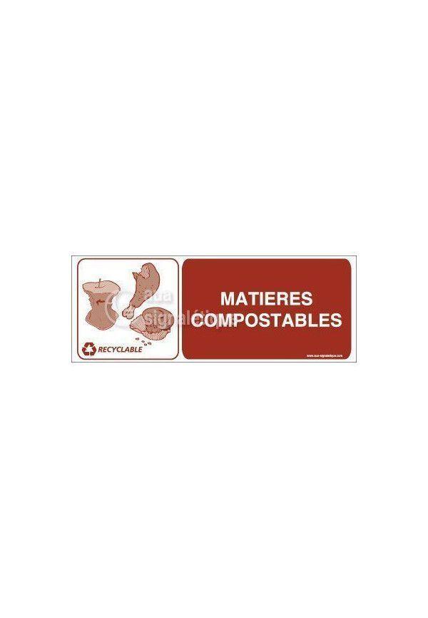 Panneau Matières Compostables- H