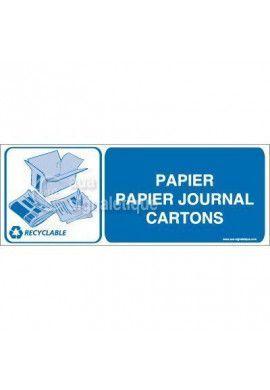 Panneau Papier Papier Journal Cartons- H