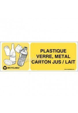 Panneau Plastique Verre Métal Carton - H