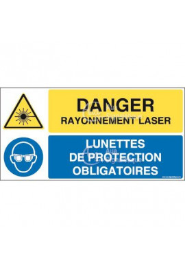 Panneau duo Rayonnement laser