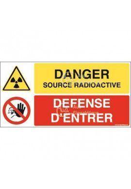 Panneau duo Source radioactive