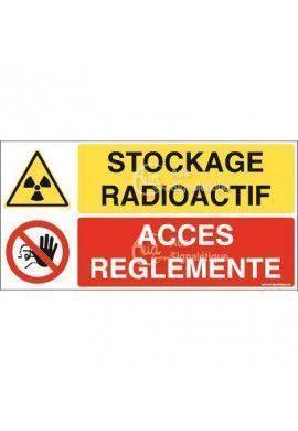 Panneau duo Stockage radioactif