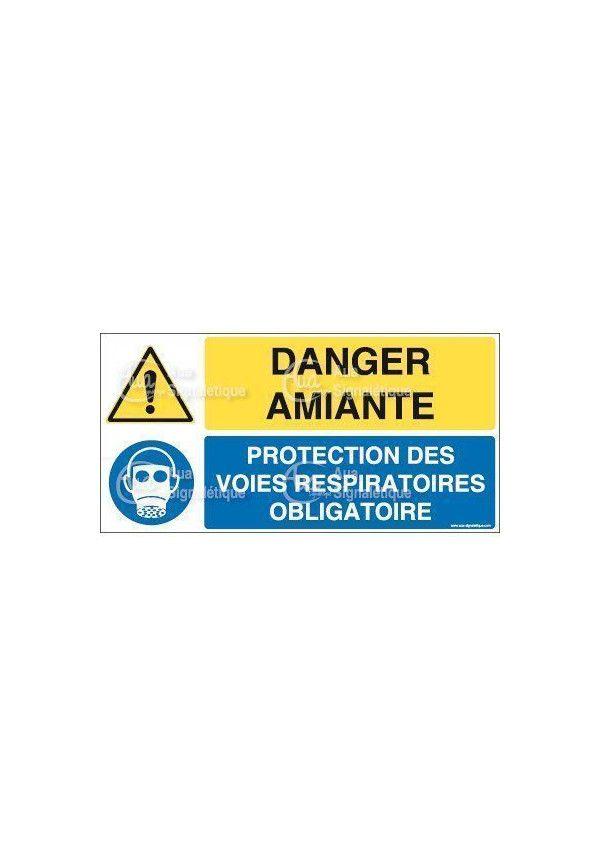 Panneau duo amiante protection voies respiratoires