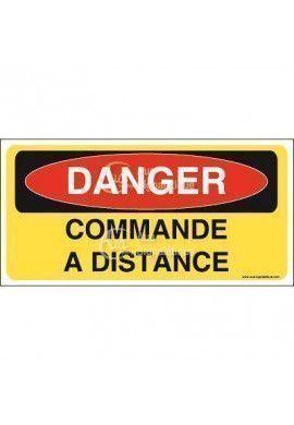 Panneau danger commande à distance