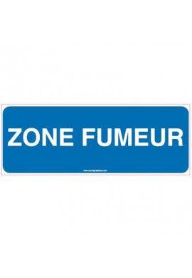 Panneau Zone fumeur
