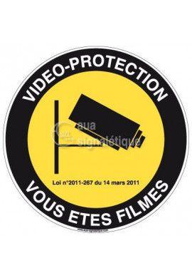 Panneau Vidéo Protection Vous êtes Filmés