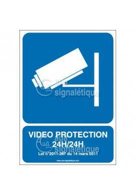 Panneau Vidéo Protection 24h/24 Horizontal