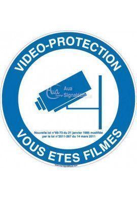 Panneau Vidéo Protection Vous êtes Filmés 02