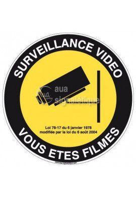 Panneau Surveillance Vidéo Vous êtes Filmés 02