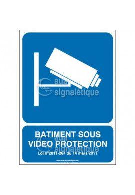Panneau Bâtiment Sous Vidéo Protection