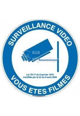 Panneau Surveillance Vidéo Vous êtes Filmés