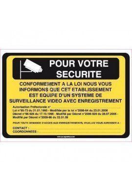 Panneau Pour votre Sécurité, Vidéo Surveillance
