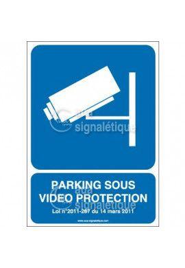 Panneau Parking Sous Vidéo Protection Vertical