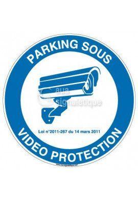 Panneau parking sous vidéo protection - 01