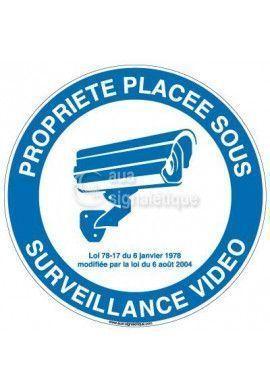Panneau propriété placée sous surveillance vidéo
