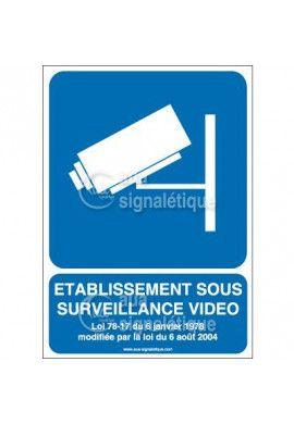 Panneau Etablissement Sous Surveillance Vidéo