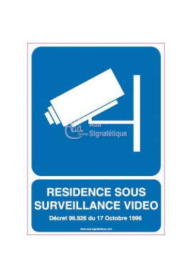 Panneau Résidence Sous Surveillance Vidéo