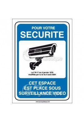 Panneau pour votre sécurité espace placé sous surveillance vidéo