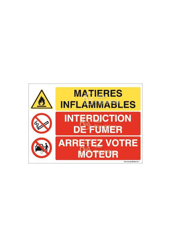 Panneau trio Matières Inflammables