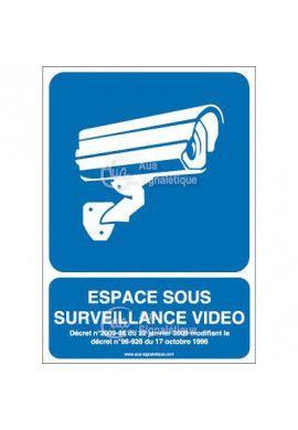 Panneau espace sous surveillance vidéo - 01