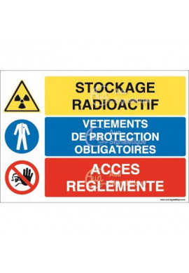 Panneau trio Stockage radioactif