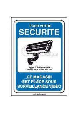 Panneau pour votre sécurité magasin sous surveillance vidéo