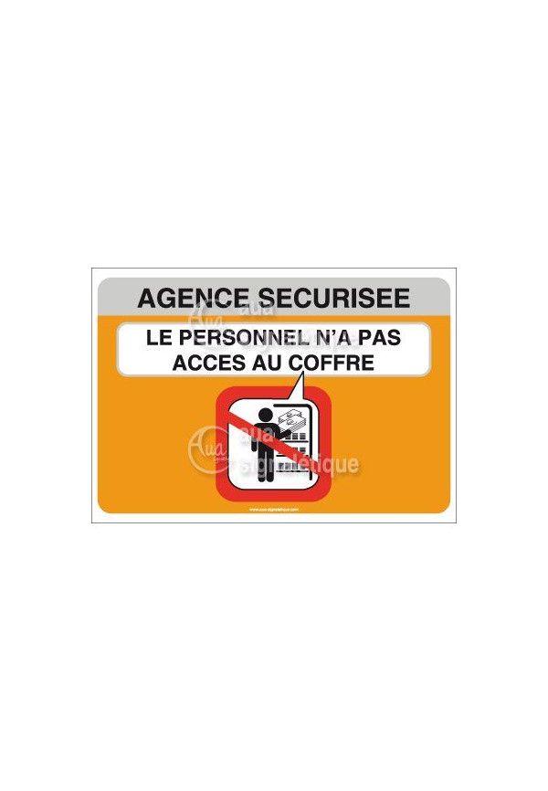 Panneau Agence Sécurisée, Acces Au Coffre