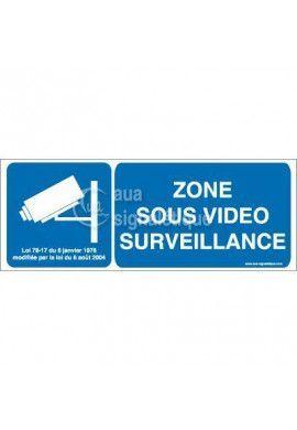 Panneau Zone Sous Vidéo Surveillance