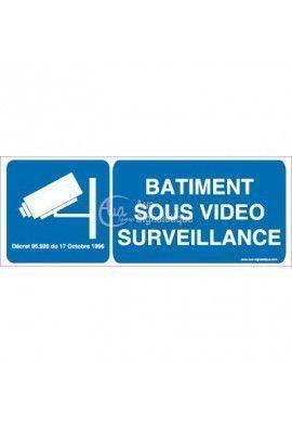 Panneau Bâtiment Sous Vidéo Surveillance
