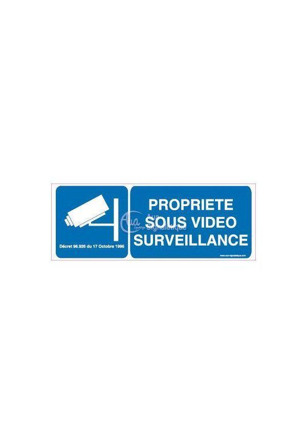 Panneau Propriété Sous Vidéo Surveillance