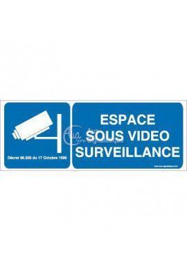 Panneau Espace Sous Surveillance Vidéo