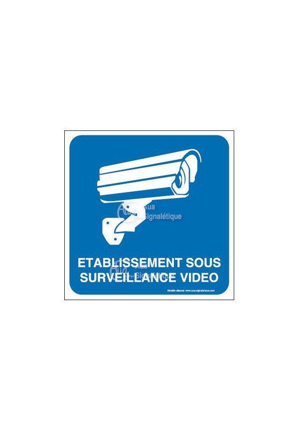 Panneau Établissement sous surveillance vidéo 02