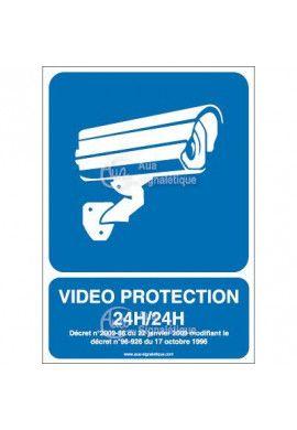 Panneau vidéo protection 24h/24 - 01