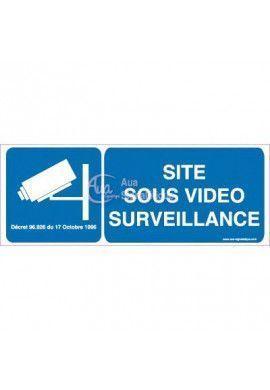 Panneau Site Sous Vidéo Surveillance