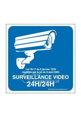 Panneau surveillance vidéo 24h/24 - 03