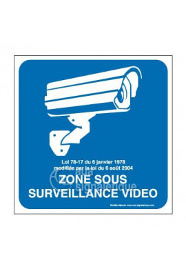Panneau zone sous surveillance vidéo