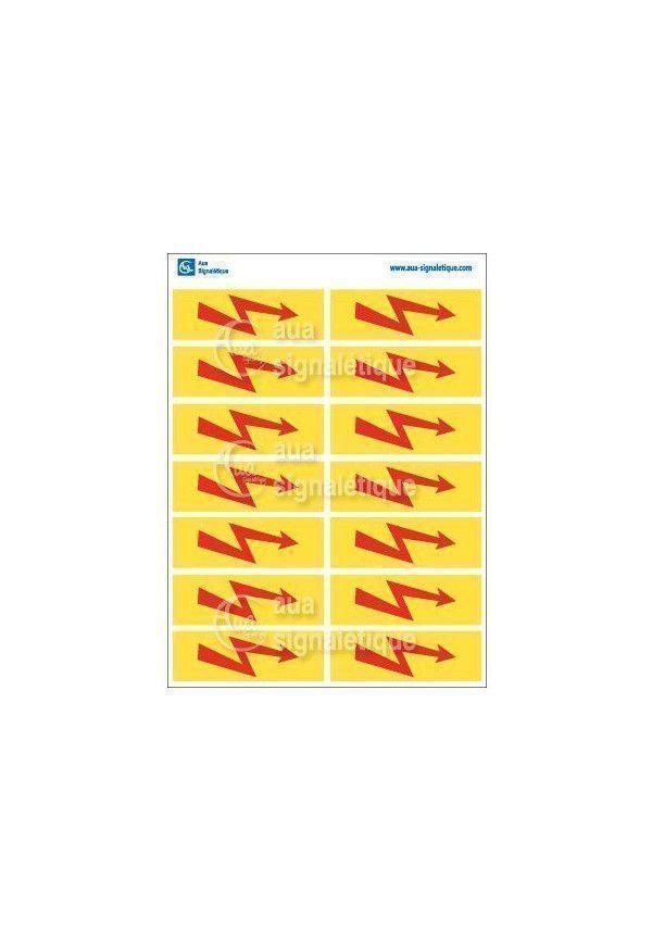 Planche Pictogrammes Eclair Rouge