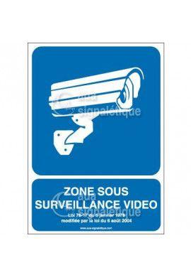 Panneau zone sous surveillance vidéo - 01