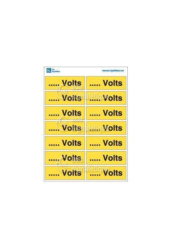 Planche Pictogrammes Volts - Personnalisable
