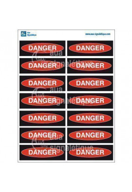 Planche Pictogrammes Danger