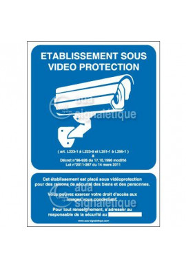 Panneau établissement sous vidéo + décret - v
