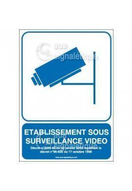 Panneau Etablissement sous Surveillance Vidéo - v