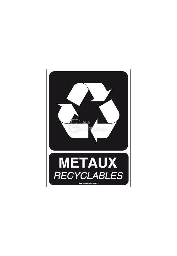 Panneau Métaux Recyclables